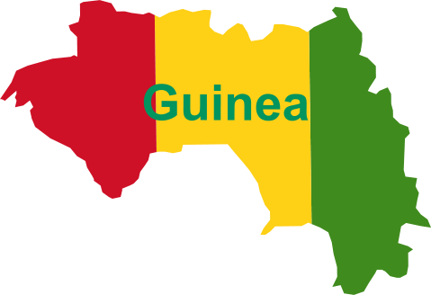 west africa map guinea